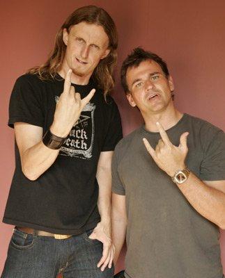 авторы фильмов Metal Headbanger's Journey и Global Metal - Sam Dann и Scot McFadyen