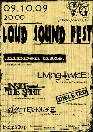 Loud Sound Fest в VG 9 октября 2009, афиша