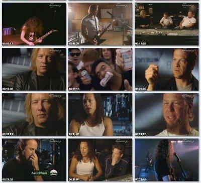 скрин-шот из фильма про Metallica