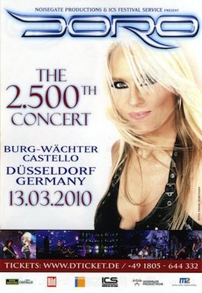 Doro провела 2500-й концерт