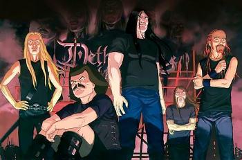 """группа Dethklok, мультфильм """"Metalocalypse"""""""