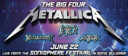 Концерт большой четверки Metallica, Slayer, Megadeth, Anthrax