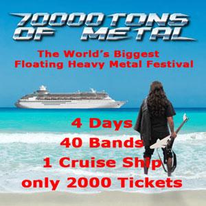 "фестиваль тяжелой музыки ""70000 TONS OF METAL""."