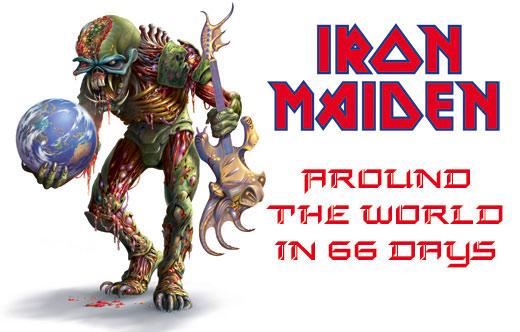 Iron Maiden возвращаются в Россию AROUND THE WORLD IN 66 DAYS